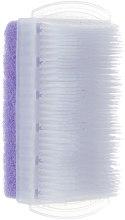 Духи, Парфюмерия, косметика Щеточка для рук с пемзой прямоугольная, фиолетовая - Top Choice