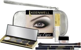 Духи, Парфюмерия, косметика Набор (lip gloss/4g + eye/pencil/1,5g + eyeshadows/5х4g + mousse/6g + bag) - Keenwell Smoky Eyes Kit