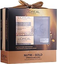 Духи, Парфюмерия, косметика Набор - Loreal Nutri Gold (cr/mask/50ml + cr/oil/50ml + micellar/200ml)
