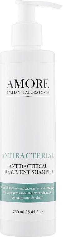 Лечебный противогрибковый антибактериальный шампунь против перхоти - Amore Antibacterial Treatment Shampoo