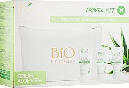 Духи, Парфюмерия, косметика Набор - Phytorelax Laboratories Bio Sebum Aloe Vera (f/gel/40ml + ser/15ml + cr/gel/20ml + bag)