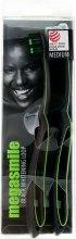 Духи, Парфюмерия, косметика Зубная щетка «Блек Вайтенинг Loop», коричневая + черная - Megasmile Black Whiteninng Loop