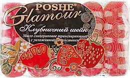 """Духи, Парфюмерия, косметика Глицериновое транспарантное мыло """"Клубничный шейк"""" - Poshe Glamour"""