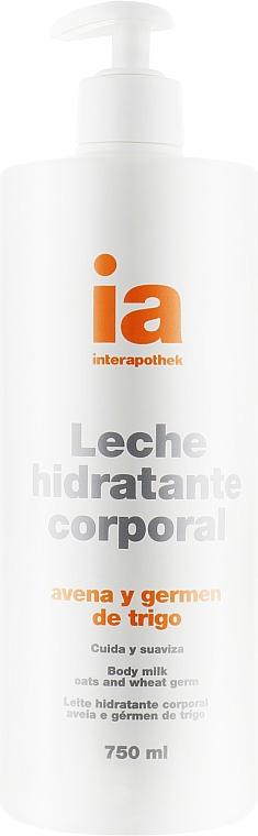 Увлажняющее крем-молочко для тела с экстрактом овса с дозатором - Interapothek Leche Hidratante Corporal