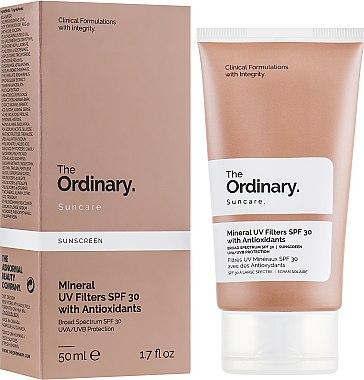 Солнцезащитный крем с минеральными фильтрами - The Ordinary Suncare Mineral UV Filters SPF30 Antioxidants