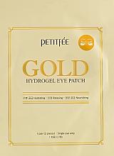 Парфумерія, косметика Гідрогелеві патчі для очей з золотим комплексом +5 - Petitfee Gold Hydrogel Eye Patch
