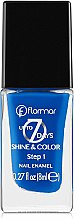 Парфумерія, косметика Лак для нігтів - Flormar Shine and Color Up to 7 day