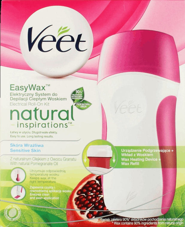Набор для депиляции воском - Veet Easy Wax Natural Inspirations Electrical Roll-On Kit
