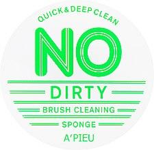 Духи, Парфюмерия, косметика Спонж для очищения кистей - A'pieu No Dirty Brush Cleaning Sponge