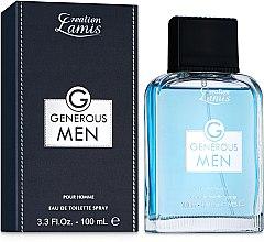 Духи, Парфюмерия, косметика Creation Lamis Generous Men - Туалетная вода