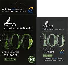 Духи, Парфюмерия, косметика Активный энзимный пилинг №100 - Sativa Extra Care Active Enzyme Peel Powder