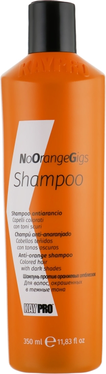 Шампунь против нежелательных оранжевых оттенков - Kaypro Shampoo NoOrangeGig
