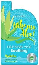 Духи, Парфюмерия, косметика Успокаивающая маска для лица - Dewytree Help Me Aloe! Soothing Mask