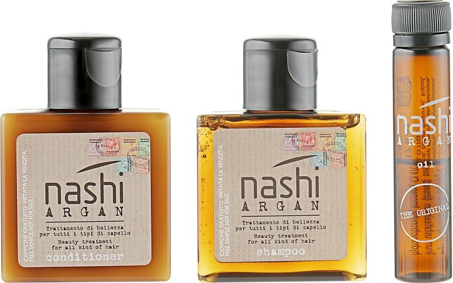 Дорожный набор - Nashi Argan (shm/30ml + cond/30ml + oil/5ml)