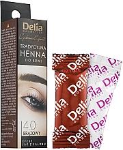Духи, Парфюмерия, косметика Краска для бровей в порошке, коричневая - Delia Brow Dye Henna Traditional Brown