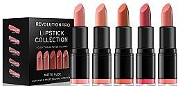 Духи, Парфюмерия, косметика Набор из 5 помад для губ - Revolution Pro 5 Lipstick Collection Matte Nude