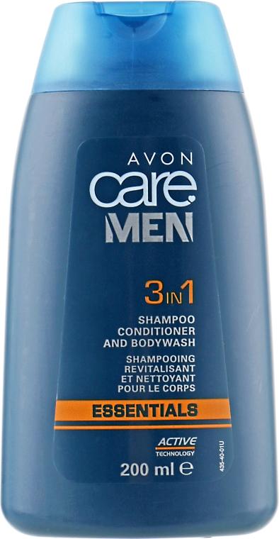 """Комплексное средство """"Основной уход"""" 3 в 1 - Avon Men 3in1 Shampoo, Condition and Shave"""