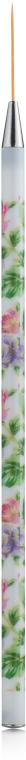 Кисть для рисования и френча №3, ворс 23 мм, цветочный принт - Naomi