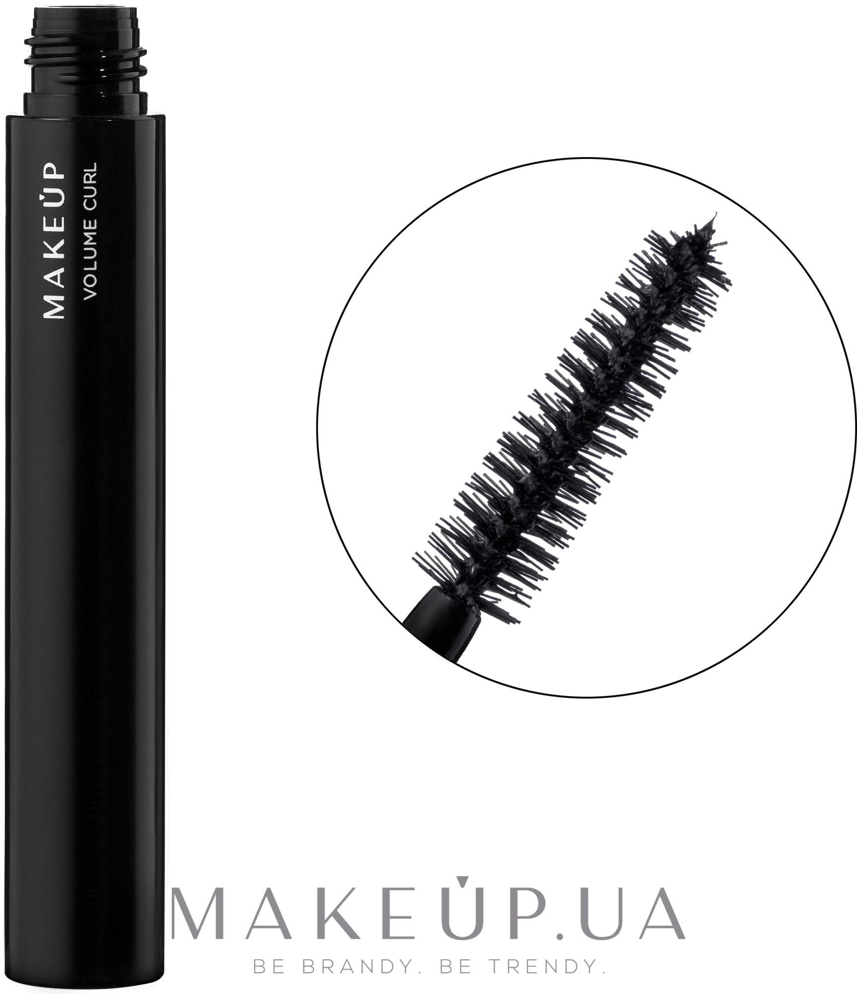 Тушь для ресниц объемная - MakeUp Volume Curl — фото Black
