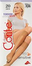 """Духи, Парфюмерия, косметика Гольфы для женщин """"Tension Soft"""", 20 den, 1 пара, bronz - Conte"""
