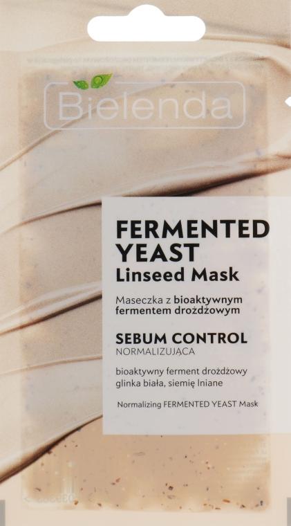 Маска для лица с ферментами - Bielenda Fermented Yeast Linseed Mask