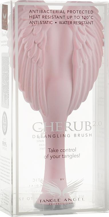 Расческа-ангел компактная, светло-розовая с серым - Tangle Angel Cherub 2.0 Soft Touch Pink