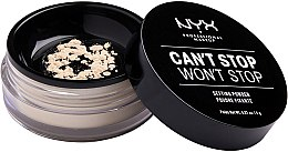 Духи, Парфюмерия, косметика Фиксирующая рассыпчатая пудра для лица - NYX Can't Stop Won't Stop Setting Powder