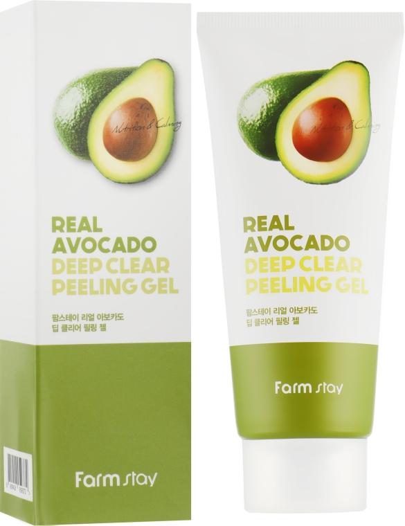 Глубоко очищающий пилинг-гель для лица - FarmStay Real Avocado Deep Clear Peeling Gel