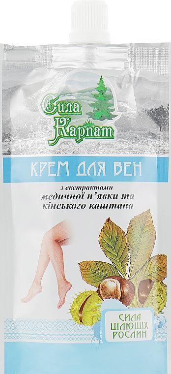 """Крем для вен """"Сила Карпат"""" - LekoPro (дой-пак)"""