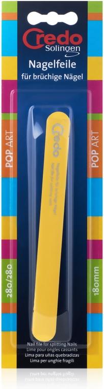 Пилка Pop Art для слоящихся ногтей 180 мм, 27512, желтая - Credo Solingen
