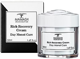 Духи, Парфюмерия, косметика Обогащенный дневной крем Монои - Mamash Organic Day Monoi Care Rich Recovery Cream