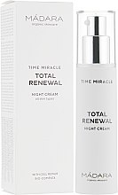 Духи, Парфюмерия, косметика Ночной крем - Madara Cosmetics Time Miracle Total Renewal Night Cream