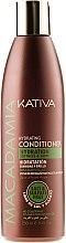 Духи, Парфюмерия, косметика Увлажняющий кондиционер для нормальных и поврежденных волос - Kativa Macadamia Hydrating Conditioner