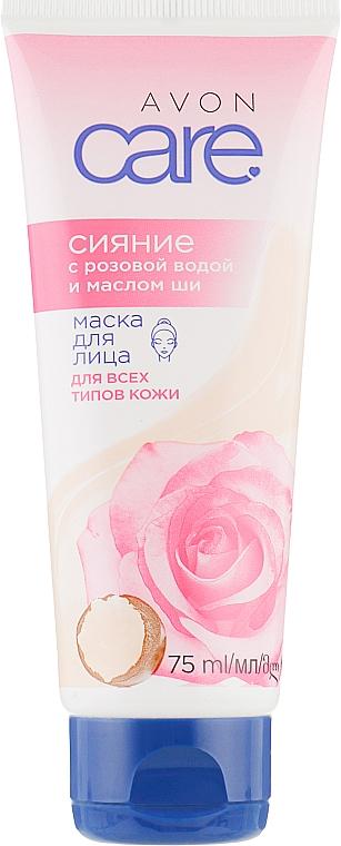 """Маска для лица с розовой водой и маслом ши """"Сияние"""" - Avon Care Face Mask"""