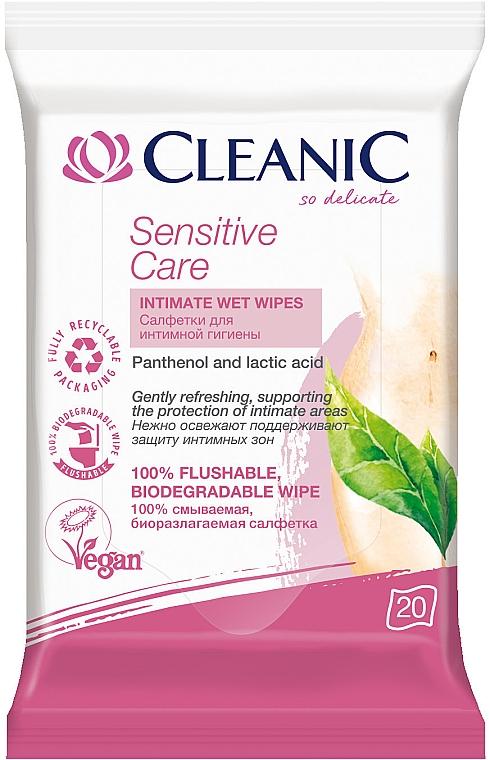 Салфетки для интимной гигиены, 20 шт. - Cleanic Sensitive Care Wipes