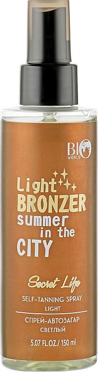 Спрей-автозагар, светлый - BioWorld Secret Life Self-Tanning Spray Light