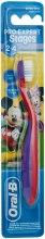 "Духи, Парфюмерия, косметика Детская зубная щетка 2-4 года ""Mickey Mouse"", мягкая, красно-фиолетовая - Oral-B Stages 2"