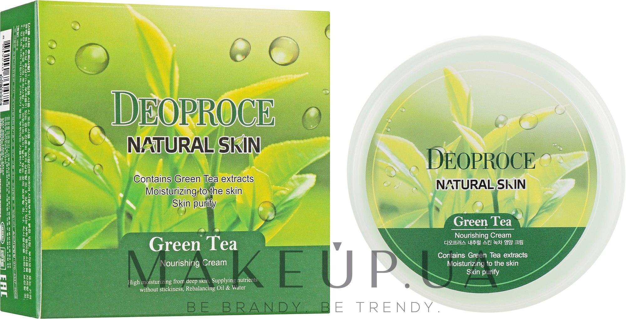 Deoproce зеленый чай крем Natural Skin