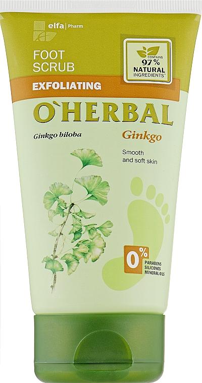 Скраб для ног с экстрактом гинкго билоба - O'Herbal Foot Scrub