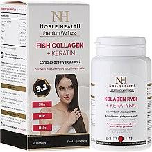 Духи, Парфюмерия, косметика Комплекс для ухода за волосами, кожей и ногтями - Noble Health Collagen + Ceratin
