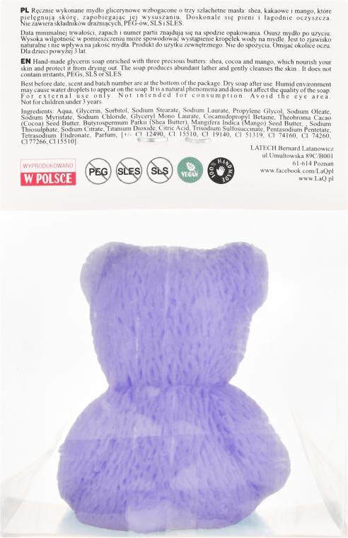 """Натуральное мыло ручной работы """"Маленький медведь"""" с ароматом лаванды - LaQ Happy Soaps Natural Soap — фото N2"""