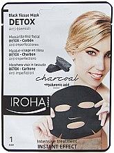 Тканевая маска для лица - Iroha Nature Detox Black Tissue Mask Charcoal — фото N1
