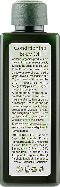 Розслаблююче масло для тіла - Canaan Organics Conditioning Body Oil — фото N2