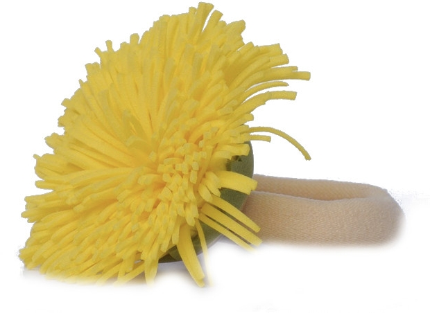 "Резинка для волос ""Желтый одуванчик"" - Katya Snezhkova"