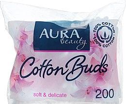 Духи, Парфюмерия, косметика Ватные палочки в полиэтиленовом пакете, 200шт - Aura Beauty Soft&Delicate