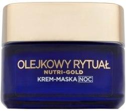 Духи, Парфюмерия, косметика Ночной крем-маска для лица - L'Oreal Paris Nutri Gold Night Cream-Mask