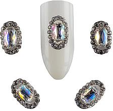Духи, Парфюмерия, косметика Брошь для дизайна ногтей St-P05, 2 шт - F.O.X Brooch №2 Stone Placer