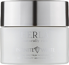 Духи, Парфюмерия, косметика Ночной крем для лица - Herla Infinite White Total Spectrum Moisturizing Night Therapy Whitening Cream