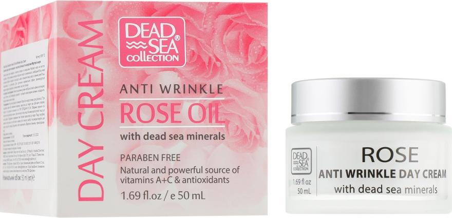 Дневной крем против морщин с маслом розы и минералами Мертвого моря - Dead Sea Collection Anti Wrinkle Rose Oil Day Cream