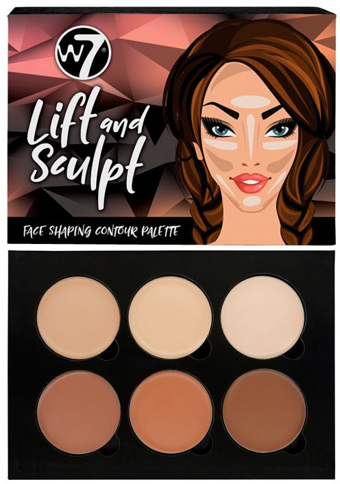 Палетка для контуринга лица - W7 Lift & Sculpt Face Shaping Contour Palette